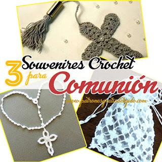 Accesorios y souvenires crochet para comunión