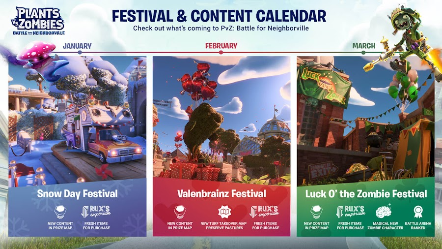 plants vs zombies battle for neighborville q1 content calender festival event live now pc ps4 xb1