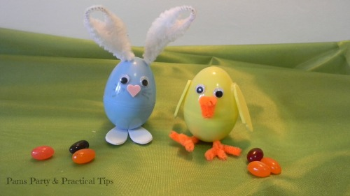 Easter egg animals, plastic egg crafts