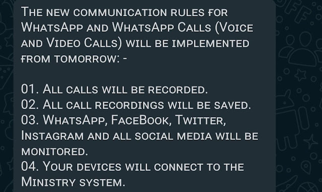 WhatsApp New Govt. Rules Message