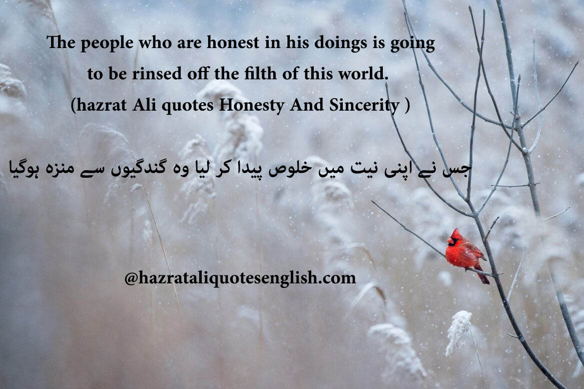 Honesty Quotes Hazrat Ali Quotes In English About Sincerity