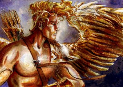 Thần Eros làm nhiệm vụ se duyên trong tình yêu