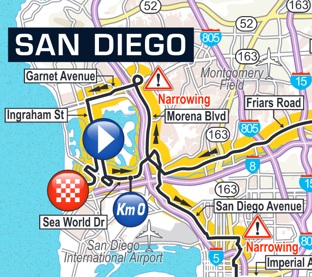 San Diego start of Stage 1 Amgen Tour of California 2016