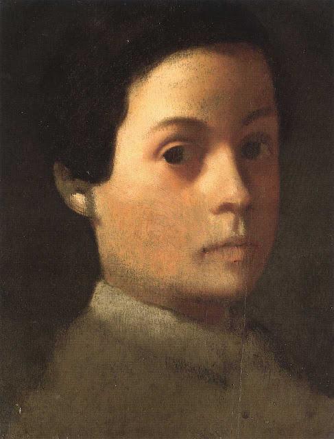 Эдгар Дега - Портрет младшего брата художника Рене де Га (ок.1855)