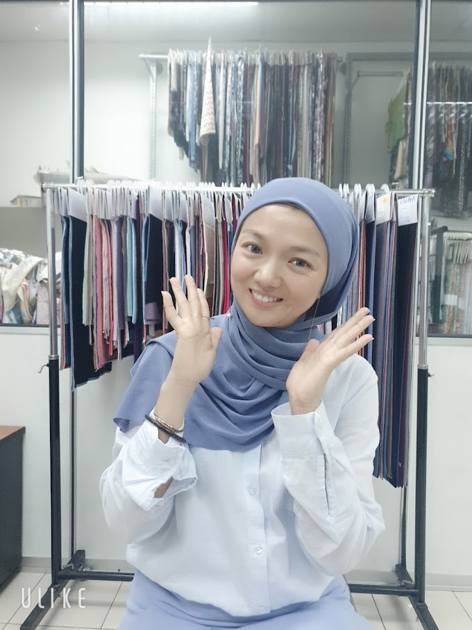 Example of HeadScarves from SSH TEXTILE fabric/ Contoh Tudung Hasil Kain SSH TEXTILE