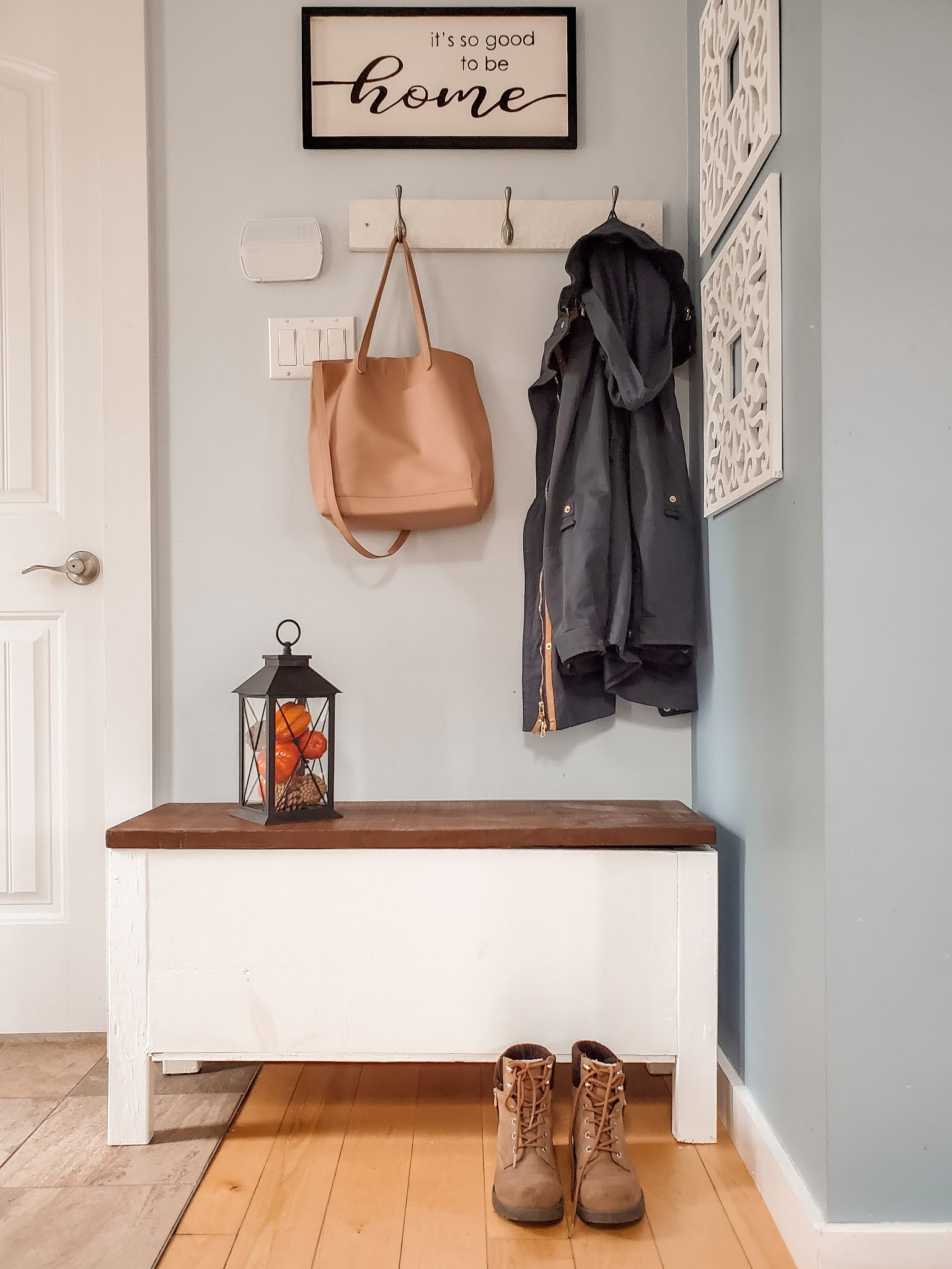 Introducing the Entryway | Simple and Beautiful Transformation by Plaid and SUgar