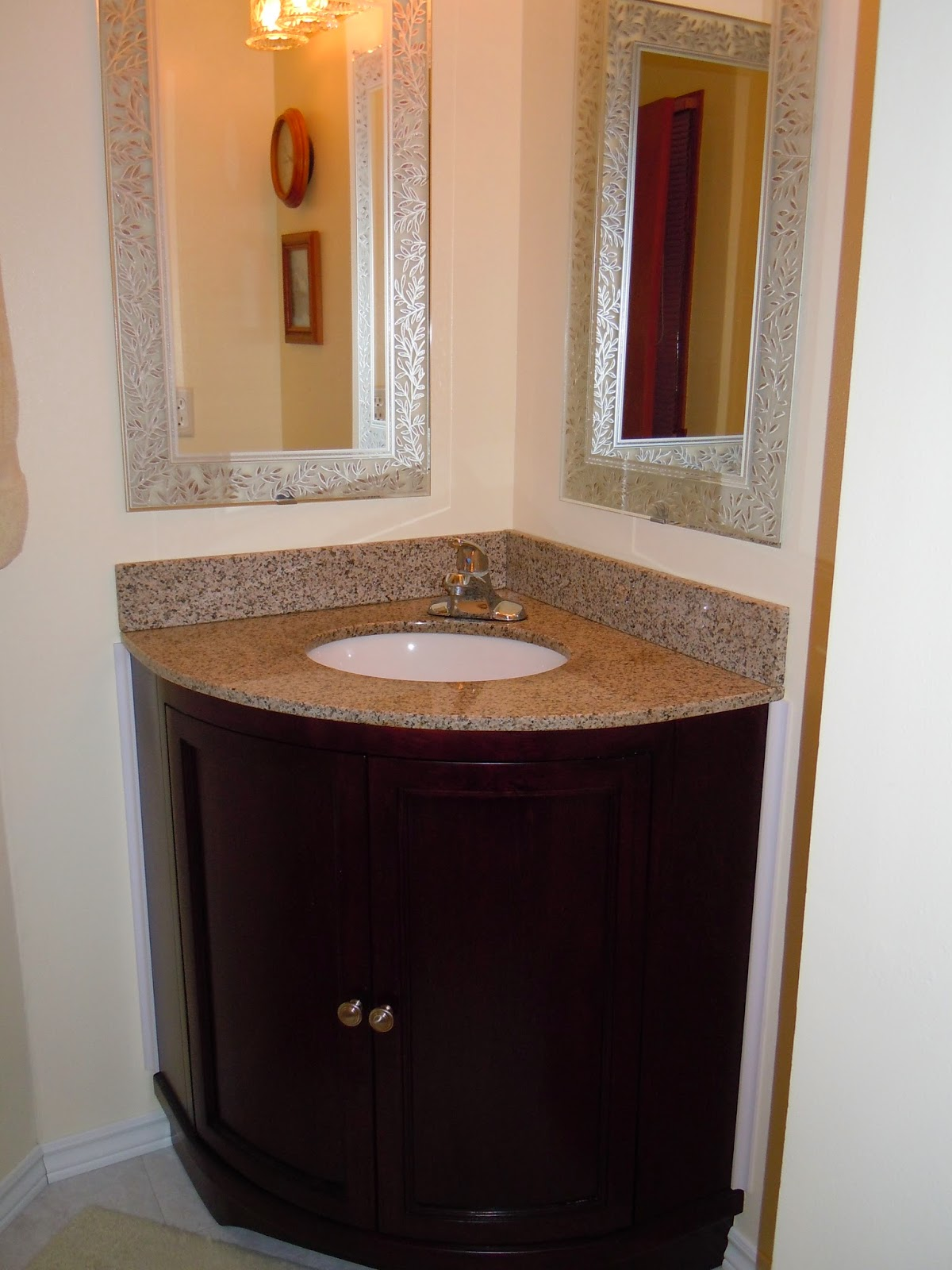corner mirror bathroom diy remodeling and replacing a corner vanity in bathroom 12535