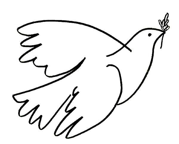 pombas para imprimir e colorir o mundo das crianças