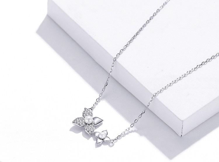 春天物語 925純銀鋯石項鍊