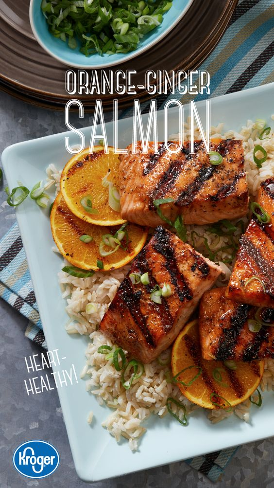 Orange-Ginger Salmon #recipes #dinnerrecipes #deliciousdinnerrecipes #fastdeliciousdinnerrecipes #food #foodporn #healthy #yummy #instafood #foodie #delicious #dinner #breakfast #dessert #lunch #vegan #cake #eatclean #homemade #diet #healthyfood #cleaneating #foodstagram