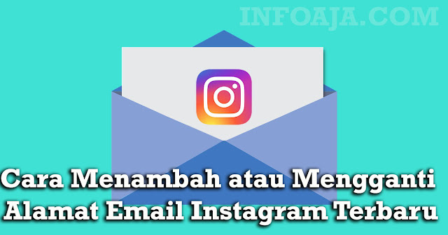 menambah email instagram