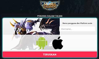 Mlegendsdiamond com || Begini cara dapatkan Diamond dan skins mobile legends gratis