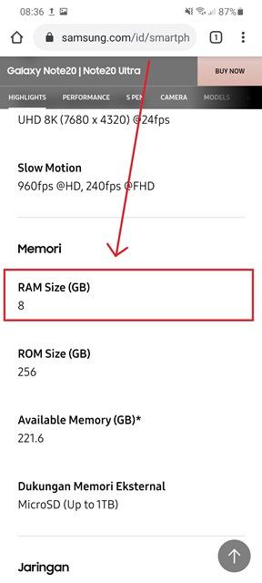7 Cara Cek Ram Hp Samsung Berapa Kapasitas Dan Sisa Musdeoranje Net