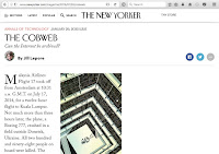 "Screenshot of New Yorker ""Cobweb"" article."