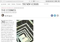 "Screenshot of New Yorker ""Cobweb"" article."