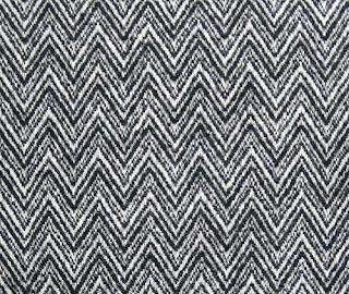 Black and white wool herringbone tweed