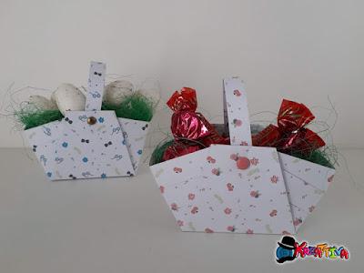 Cestini di carta per Pasqua