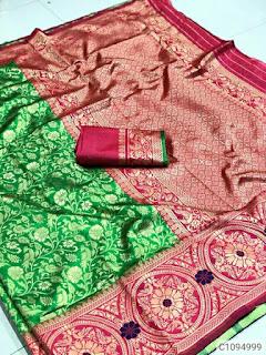 Stunning Banarasi Silk Jacquard Waving Sarees