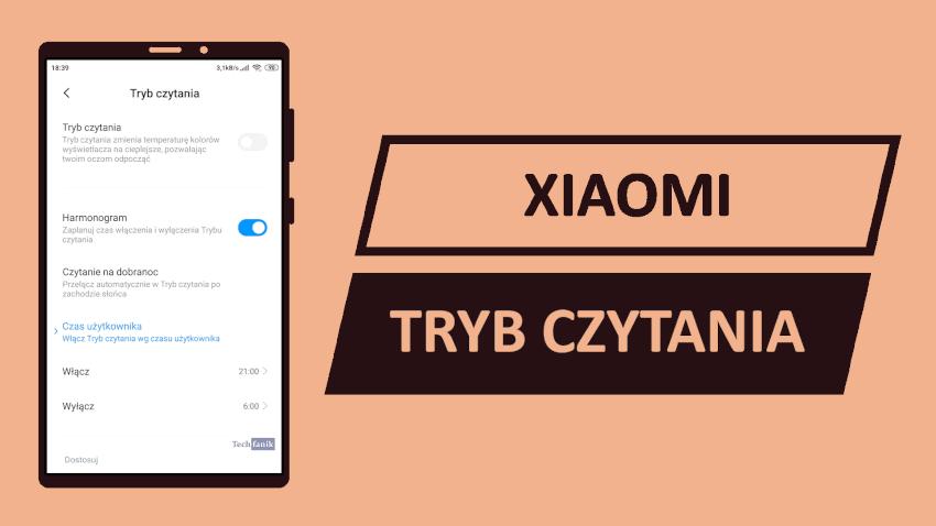 Xiaomi Tryb Czytania