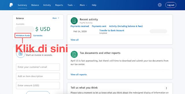 Login ke Dashboard Paypal, Transfer Paypal ke Jenius, masbobz.com, transfer dari paypal ke jenius, transfer uang dari paypal ke jenius, cara transfer paypal ke jenius