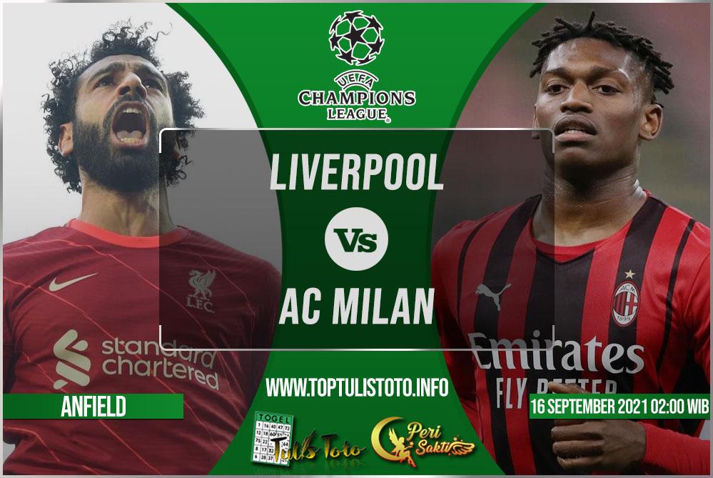 Prediksi Liverpool vs AC Milan 16 September 2021