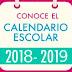 Calendario Escolar 2018-2019 SEP