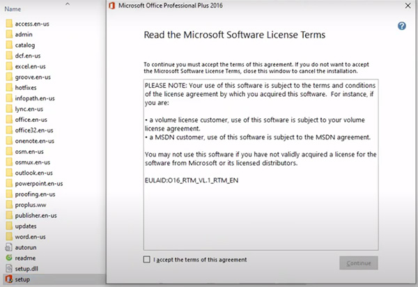 Hướng dẫn cài đặt Microsoft Office 2016 Professional Plus a