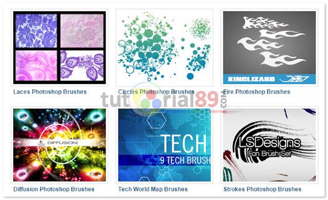 Kumpulan situs tempat download brushes photoshop gratis