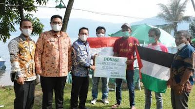 Untuk Palestina, PSB Batu Taba Serahkan Donasi Sebesar 30 Juta Rupiah