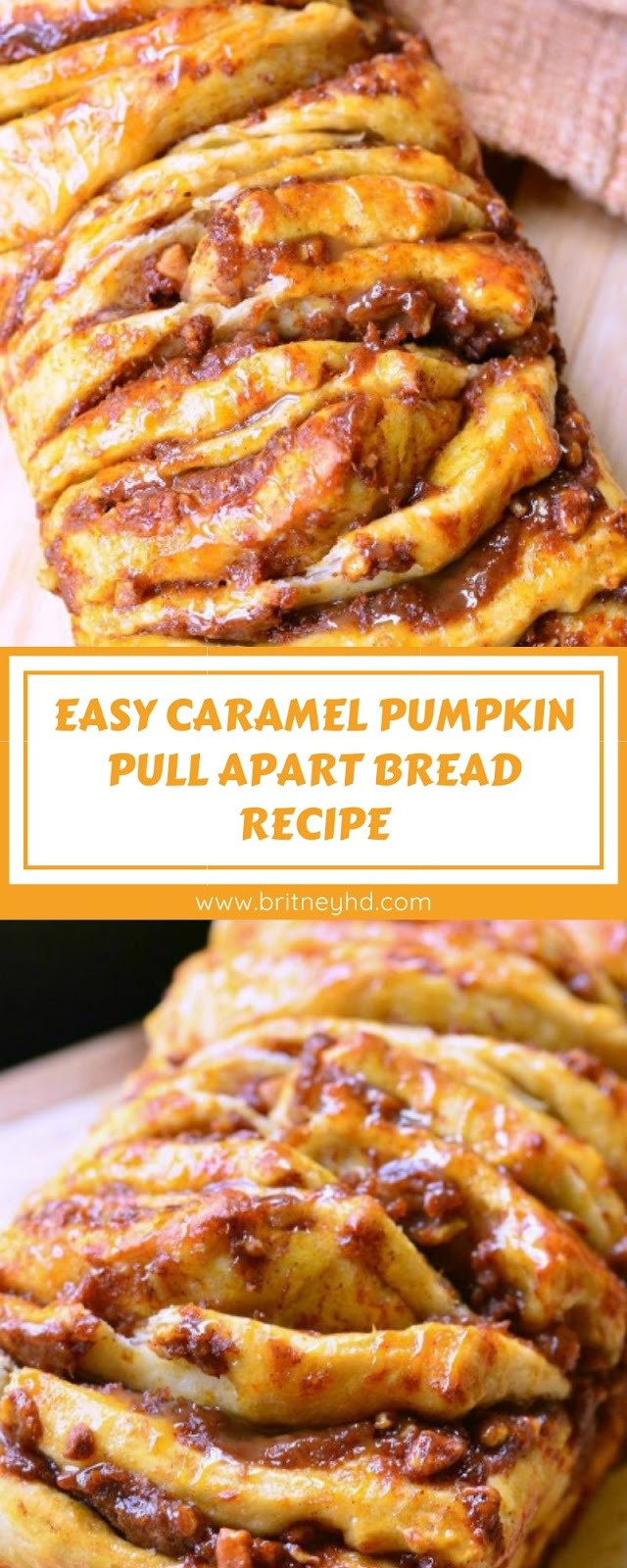 EASY CARAMEL PUMPKIN PULL APART BREAD RECIPE