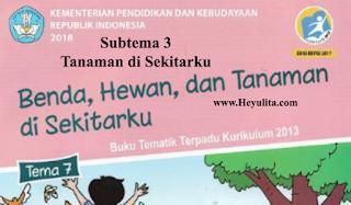 Soal tematik kelas 1 tema 7 subtema 3