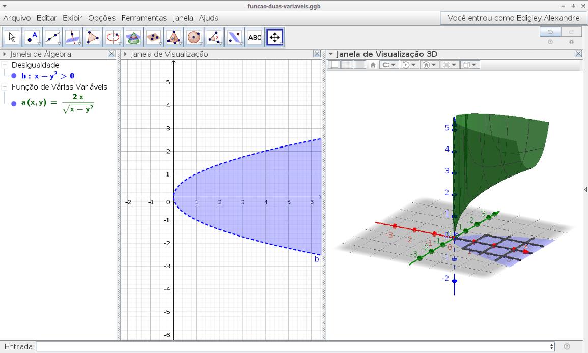 Objetos de aprendizagem para o ensino de funções de duas variáveis: um diferencial dinâmico [TCC]