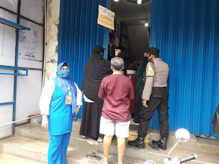 Tiga Pilar Kelurahan Butung Tegur Pedagang yang Membandel