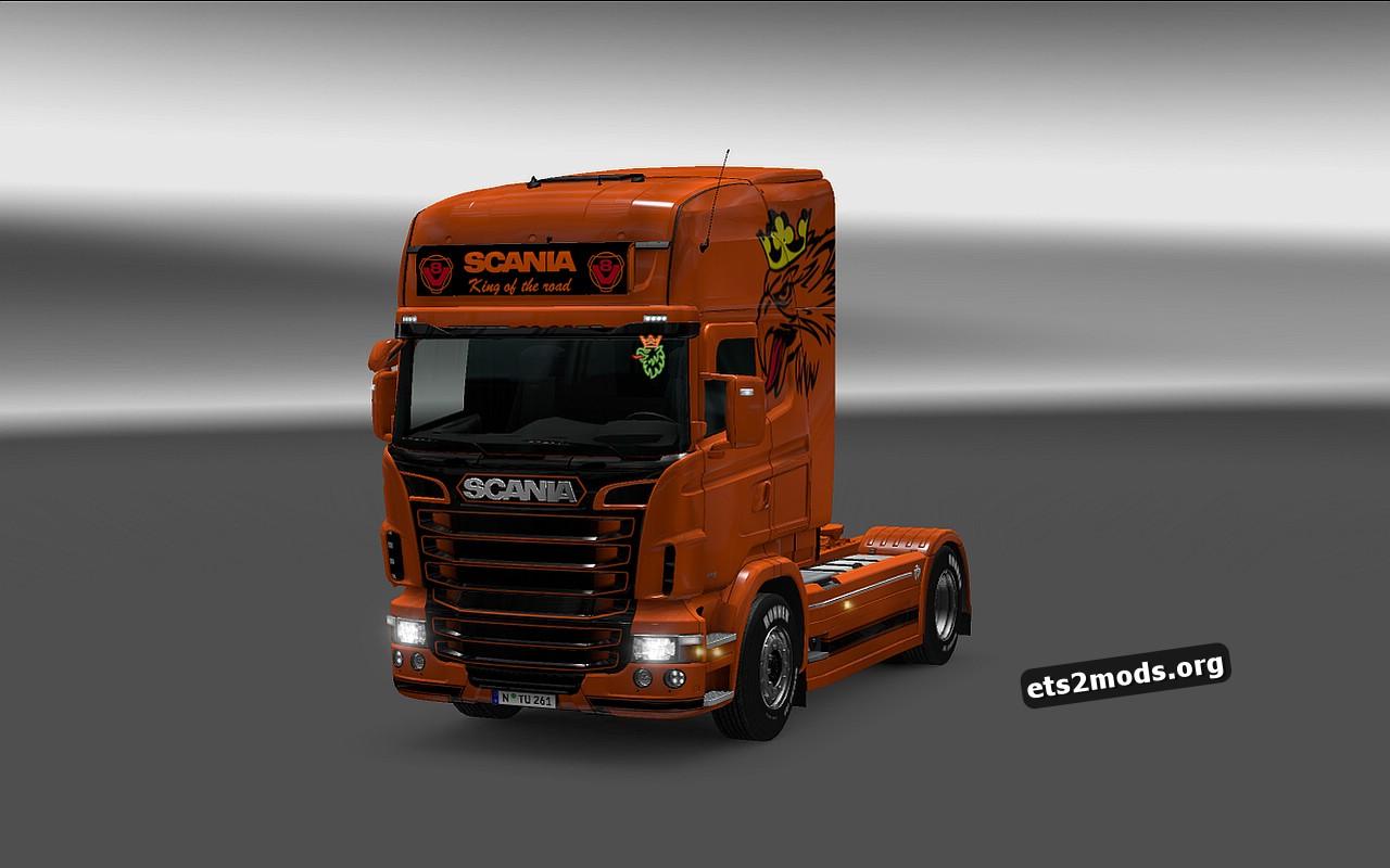 Scania RJL Orange Griffin Skin + Accessory
