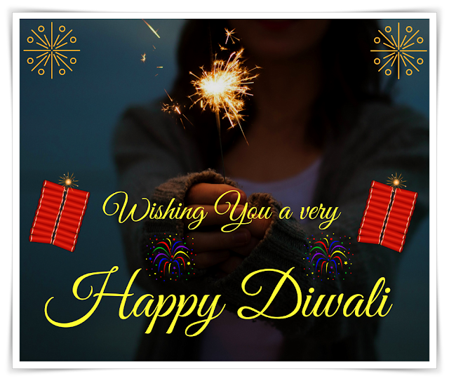 Wishing, very, Happy Diwali,