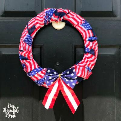 Americana patriotic front door wreath