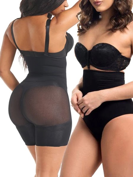 PIECE PACK HIGH WAISTED TUMMY-TUCKING BUTT-LIFTING SHAPING SHORTS