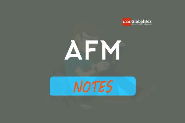 AFM - P4 | Notes
