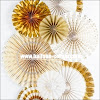 Paper Fan Warna Gold & Silver NEW DESIGN (Bahan Kertas Bagus)