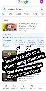 YouTube Chapters - mobile search result