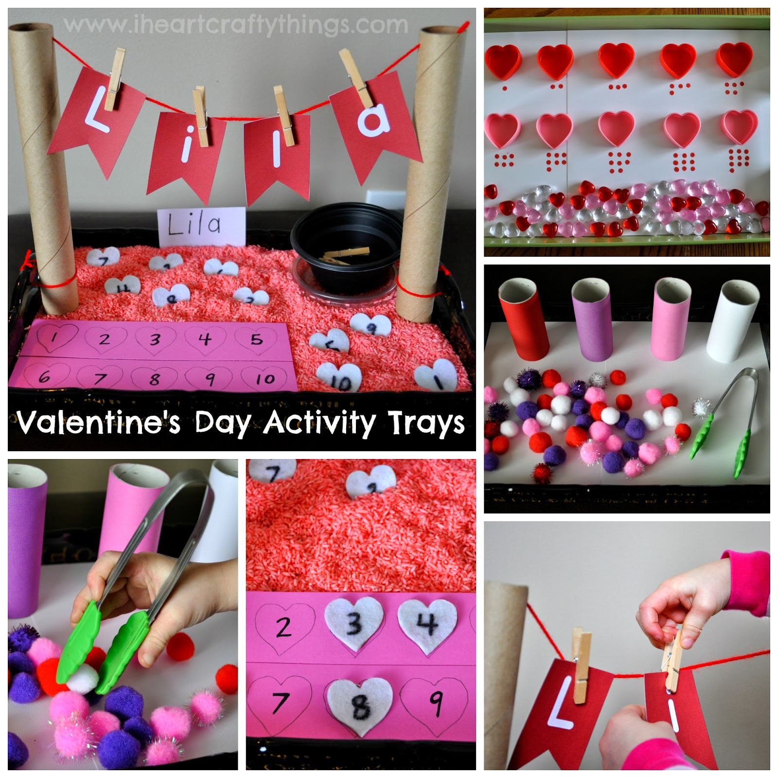 Valentine S Day Activity Trays Fine Motor Numbers