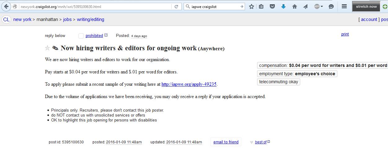 Craigslist Writing Gigs Resume Writer  20 ways to find freelance