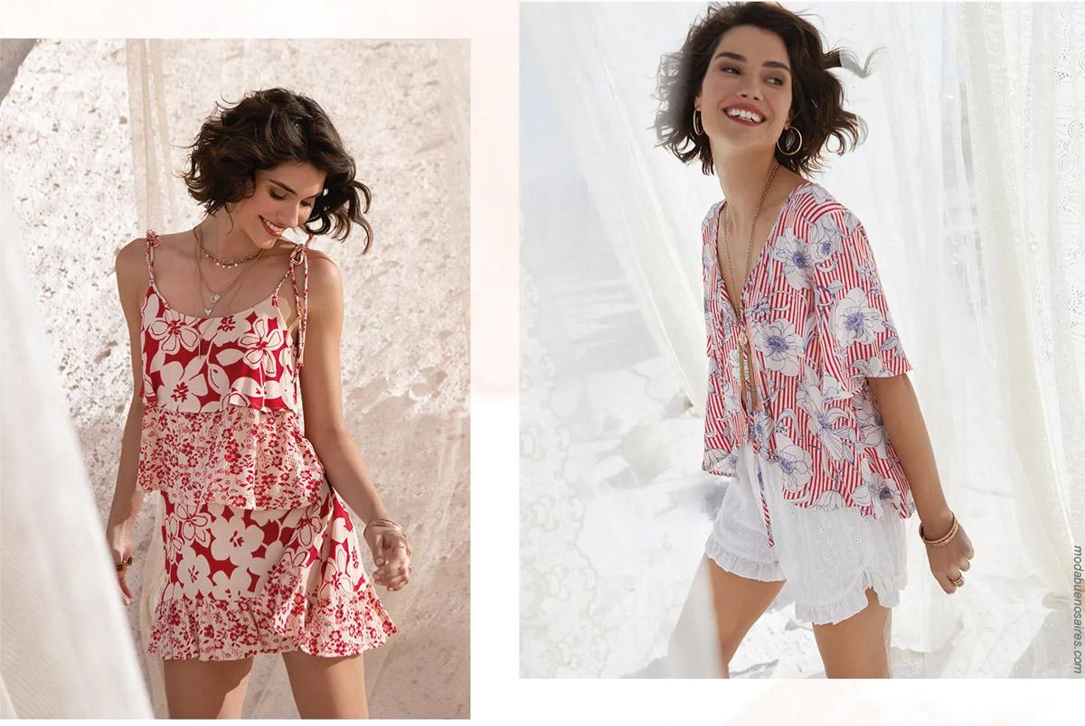 Vestidos cortos, camisas y shorts verano 2020.