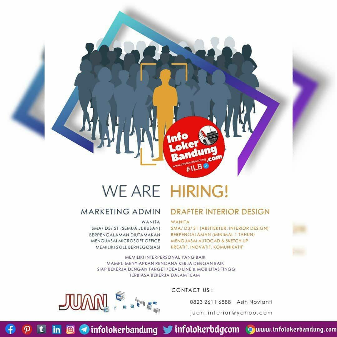 Lowongan Kerja Juan Interior Bandung November 2020