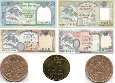 Countries and Currency Nepalese Rupee
