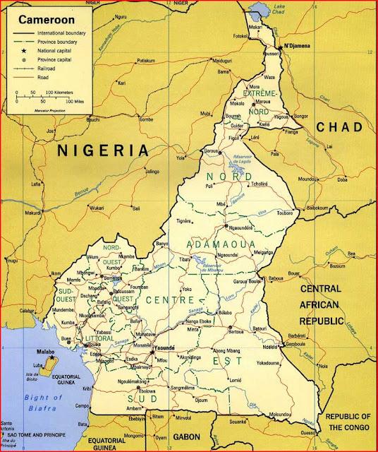 Gambar Peta Politik Kamerun