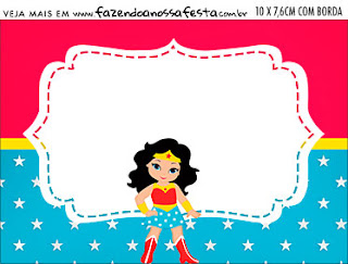 Wonder Woman  Free Printable Invitations and Candy Bar Labels.