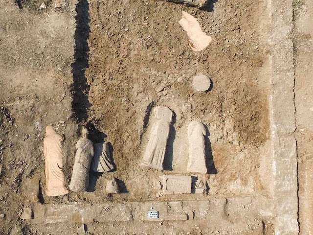Six 2000-year-old Greek statues discovered in southwestern Turkey