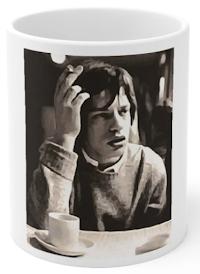 MICK JAGGER DRINKING COFFEE