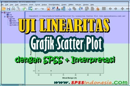 Cara Uji Linearitas Menggunakan Grafik Scatter Plot dengan SPSS
